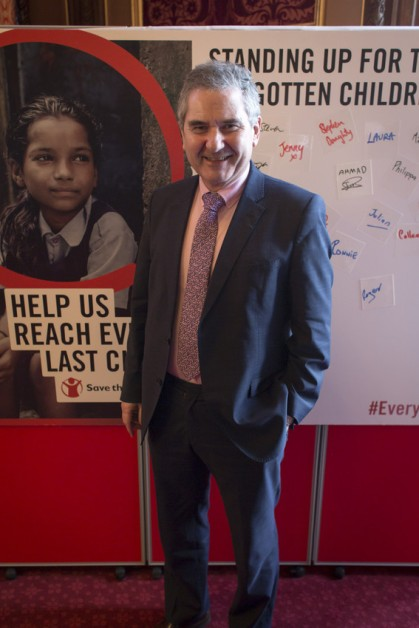 SNP MP for Kirkcaldy and Cowdenbeath Roger Mullin at the Save the Children Global Media Campaign launch at Speaker's House, The House of Commons, Westminster, London. 26.04.2016.